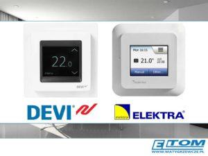 Sterowanie instalacjami ogrzewania elektrycznego - termostaty